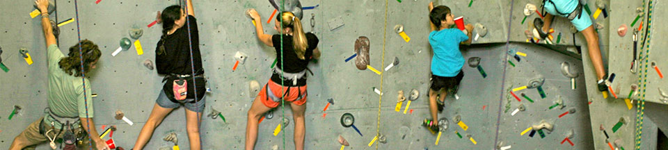 First Time Rock Climbers at our Indoor Rock Climbing Facility and Outdoor Guiding Service - Queensbury NY